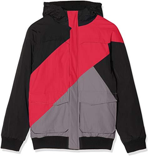 Urban Classics Herren Zig Zag Fastlane Jacket Jacke, Mehrfarbig (Blkredgry 298), Large