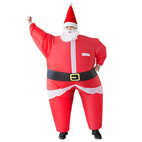 Inflatable Santa Claus Costume Unisex Adult Xmas Inflatable Funny Festive Suit Blow Up