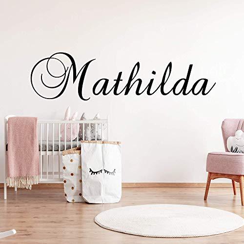 Wandschnörkel® Wandtattoo Namen HM~AA920 Mädchenzimmer jungenzimmer Kinderzimmer Türschild Baby Mädchen Jungen personalisiert