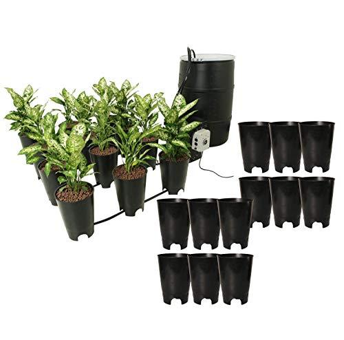 Active Aqua EBB-12 Grow Flow Ebb & Gro 12 Site Hydroponic System + (12) Active Aqua EBB-EXP6 Expansion Pots with 57 Gallon Capacity