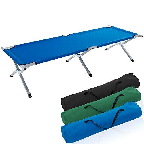 TRESKO Cama Plegable de Camping XL | Camilla para Acampar | catre portátil para Invitados | Tumbona para Exterior e Interior | 190 x 64 x 44 cm - soporta hasta 150 kg,...