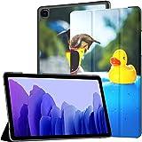Funda para Tableta Samsung A7 Perro sobre colchón de Aire Azul Funda refrescante para Samsung Galaxy Tab A7 10.4 Pulgadas Funda Protectora de liberación 2020 Funda Samsung Galaxy A7 Funda Funda de CU