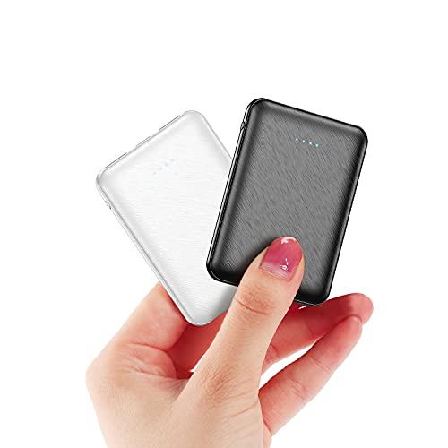 (2 Piezas) EVALY PowerBank 5000mAh - Cargador portátil Ultra Compacto con Salida 2A - Batería Externa de Bolsillo para batería de Huawei, Samsung, Xiaomi y Otros