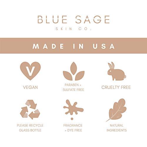 418otTL NaL - Blue Sage De-Puffing Caffeine Eye Serum | Natural Anti-Aging Eye Treatment with Probiotics, Green Tea + Hyaluronic Acid Serum for Face to Tighten and Hydrate under Eye Skin, and Brighten Dark Circles
