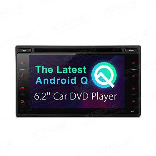 JIBO Android 10.0 Auto Estéreo Doble Estruendo Universal GPS Navegación Cabeza Unidad DVD Jugador 6.2' Tocar Pantalla Nav Sat Bluetooth WiFi 4G Teléfono Control Auto Radio Video Receptor