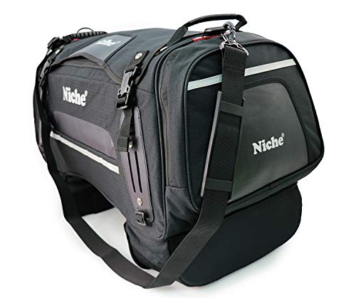 Niche Motorcycle Tail Bag Travel Luggage, Weather Resistant Touring Seat Bag for Sports Bike and Street Bike, Motorcycle Rear Bag Duffle Bag, Universal Type NMO-2211