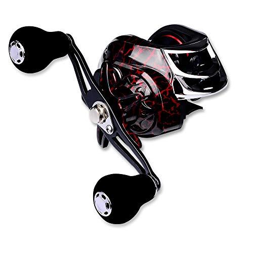 釣りリール ベイトリール キャスティング ブラック 超強力 マグネットブレーキ 最大ドラグ力10kg ギア比7.1:1ベイトリール 海 バス 湖 川適用 (右ハンドル)