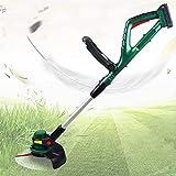 WSVULLD Lithiumbatterie Schnurlose Grasschneider mit 20V 2000 mAh, Gartengrasschneider mit...