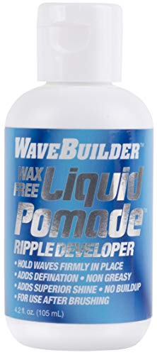 WaveBuilder Wax Free Liquid Pomade   Super Ripple Developer Holds Waves Firmly In Place, 4 Oz