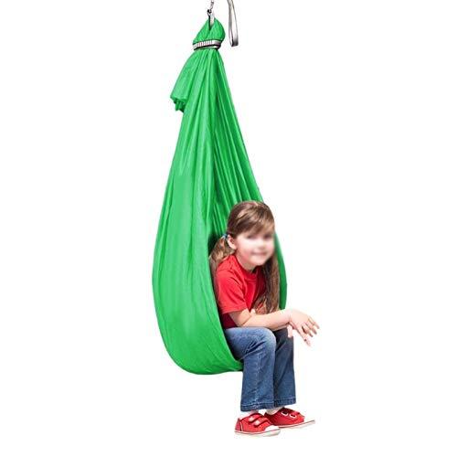 ZCXBHD Hamaca De Abrazos con Capacidad Carga 200Kg Therapy Swing Cuddle Hammock para Autismo ADHD Aspergers e Integración Sensorial (Color : Green, Size : 150x280cm/59x110in)