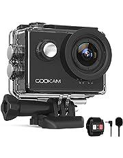 Gookam 4 K 60 FPS WiFi sportcamera 20 MP ijs anti-shake 40 m waterdichte sportcamera Ultra HD 170 ° groothoek met 2,4 G afstandsbediening 2 oplaadbare batterijen 1200 mAh en accessoireset