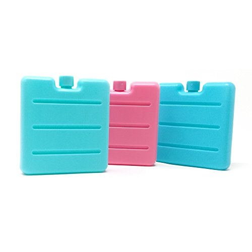 ToCi–pequeños acumuladores de frío en azul, rosa y verde | Mini acumuladores para nevera portátil | acumuladores de frio para fiambreras, 3
