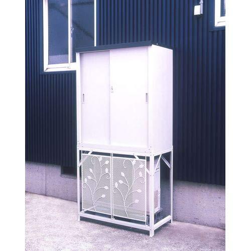 グリーンライフ(GREENLIFE)エアコン室外機カバー収納庫セットHS-92&AC-78MM室外機の上の空間を有効活用