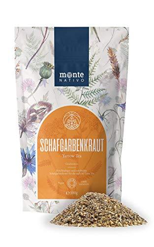 Schafgarbenkraut (300g) MonteNativo - Geschnitten - Schonend getrocknet - Schafgarbentee - Schafgarbenkrauttee - Schafgarbe - 100% rein und natürlich - Erfrischend - Achillea millefolium