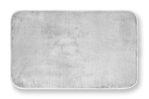 GEMITEX - Alfombra de Merino, 40 x 70 cm, Color Gris Claro, Ultra Absorbente, poliéster