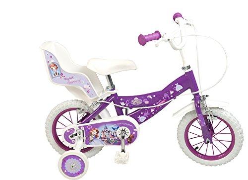 Bici 12 Pollici per Bambini Principessa Sofia Ragazza 3 4 5 6 Anni