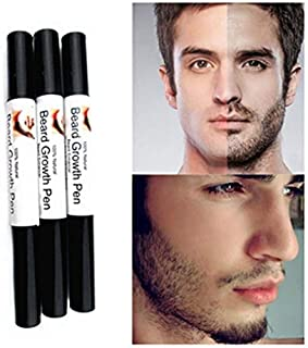 Barhalk 2 Pack Men Liquid Beard Repair Growth Solution Pen Fast Enhance Facial Whisker Nutrition Moustache