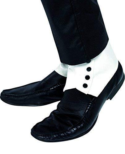 Hommes Adulte Gangster Bugsy Malone Great Gatsby Blanc & Noir Accessoire Déguisement Guêtres