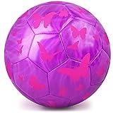 PP PICADOR Ballon de Foot pour Enfants, Filles, garçons, Ballon de Foot Taille 3, Ballon Jouet avec Pompe (Violet)