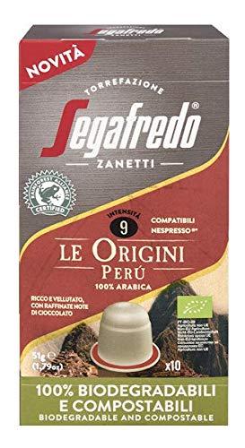 Segafredo Zanetti 10 Capsule Compatibili Nespresso, Linea Le Origini Perù, Ricco e Vellutato, 1 Astuccio da 10 Capsule