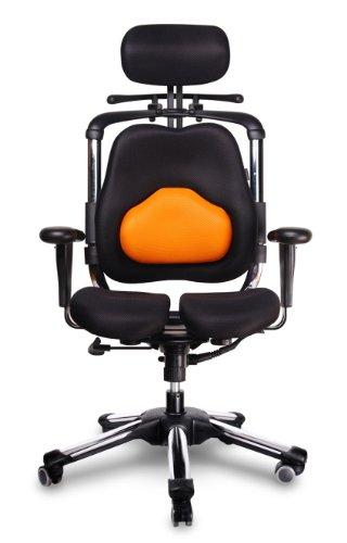 Nuevo Hara Silla, de Alivio de presión de la (protección Discos intervertebrales y Mejorar la circulación Nalgas, Modelo: Zen/Orange-Black