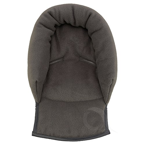 UNIVERSAL Infant \ Baby \ Toddler car seat, stroller head support pillow - Soft Polar Fleece (charcoal)