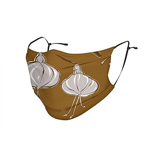 Atmungsaktive Gesichtsmaske Rost Blumen Wiederverwendbare Mundbedeckung Anti-Staub Gesichtsbedeckung Sturmhaube für Damen und Herren