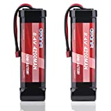 AWANFI 8.4V NiMH 4200mAh 7-Cell Flat Pack RC Battery with Deans Plug for Most 1/10 Scale RC Car Truck Boat Traxxas LOSI Associated HPI Kyosho Tamiya Hobby(2 Pack)