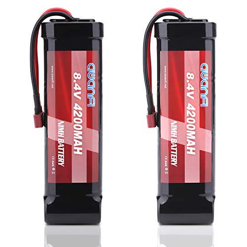 AWANFI 2 Pack RC Akku 8,4V 4200mah Nimh Akkupack Modellbau Batterie mit Deans T Stecker Ersatzakku für RC Auto Boot Buggy (2 Pack)