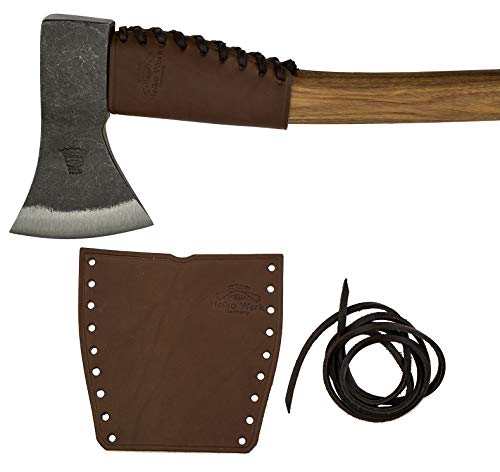 Helko Leather Handle Guard - Axe Collar for Axes and Hatchets - Axe Cover and and Axe Handle Protector Ax Collar