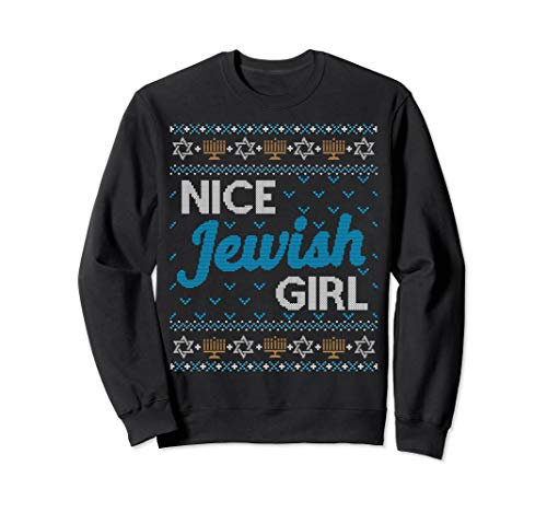 Funny Ugly Hanukkah Sweater Nice Jewish Girl Matching Set
