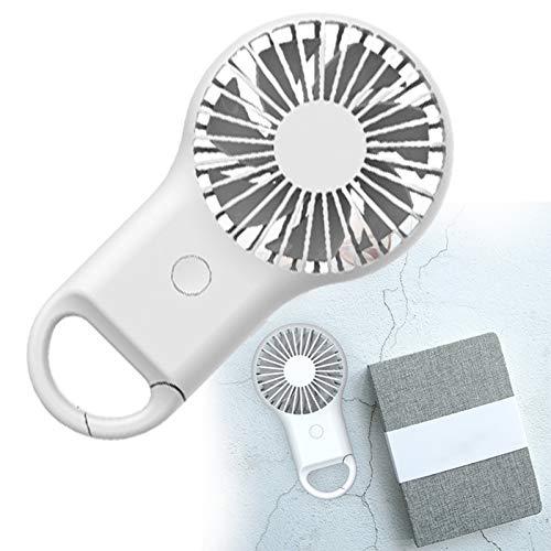 YONGCHY Mini Ventilador, Ventilador De Mano Eléctrico, 3 Velocidades De Carga USB, Ultra Silencioso, Portátil, Portátil, a Pilas, con 7 Aspas para Viajes De Oficina En Casa,Blanco