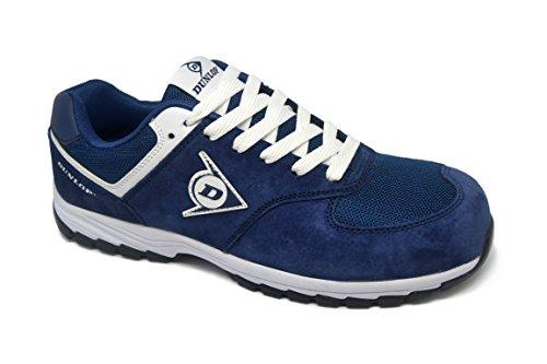 Dunlop DL0201026-41 Zapato, Piel de Ante y Mesh, Marino, 41