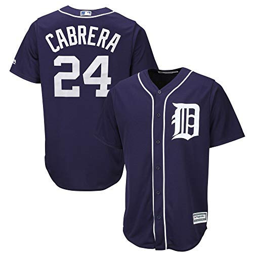 Miguel Cabrera Detroit Tigers #24 Navy Youth 8-20 Alternate Cool Base Player Jersey (Large 14/16)