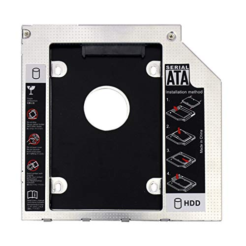 XT-XINTE Interfaz SATA 3.0 de 9 mm 2.5 Pulgadas Soporte de Disco Duro Adaptador SSD Optibay HDD Caddy CD-ROM de DVD Caja del Adaptador del gabinete para PC portátil
