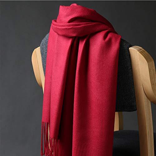 RRQS sjaal, 100% kasjmier, dames, effen, warm, van dikke wol, warm, herfst en winter, diverse stijlen