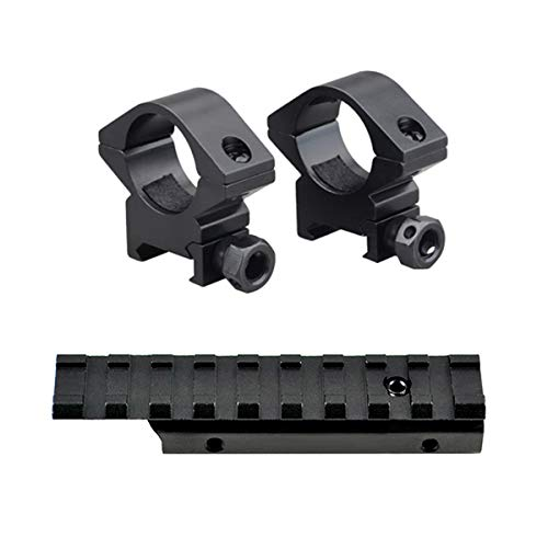 """M1SURPLUS Optics Mounting Kit - Includes Dovetail Adapter Mount and Tall Height Profile 1"""" Scope Rings/Fits Mossberg 702 Henry Arms 22 Lever Action Rimfire Rifles"""