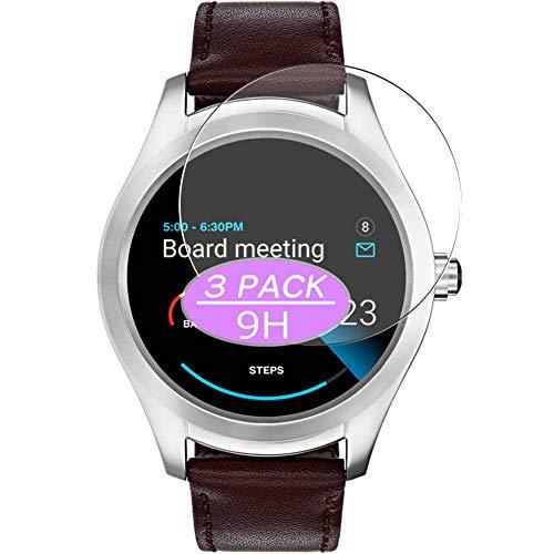 Vaxson 3 Stück 9H Panzerglasfolie, kompatibel mit Hugo Boss Touch 46mm Smartwatch Hybrid Watch, Panzerglas Schutzfolie Displayschutzfolie Bildschirmschutz