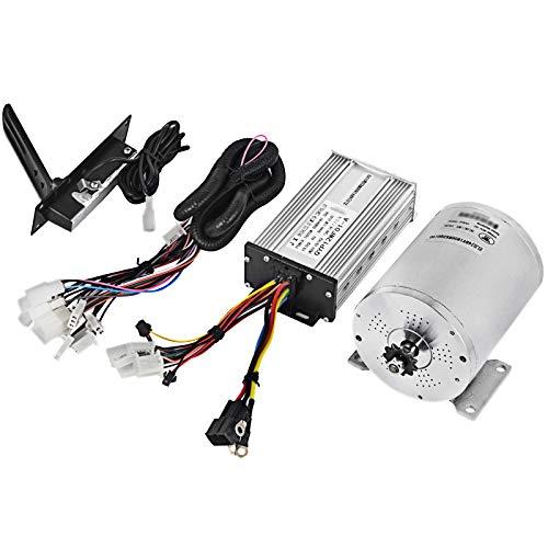 VEVOR Motor Eléctrico de Corriente Continua 1800 W 48 V Motor Eléctrico de CC con Controlador Motor sin Escobillas Mando Cables Pedal Acelerador Go-kart