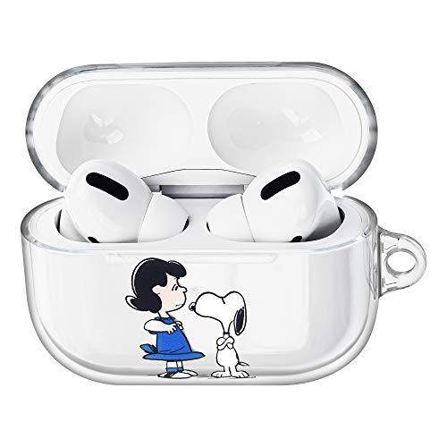 Peanuts Snoopy ピーナッツ スヌーピー AirPods Pro と互換性があります と互換性があります ケース 透明 エアーポッズ プロ 用 ケース 硬い スリム ハード カバー (一緒 スヌーピー ルーシー) [並行輸入品]
