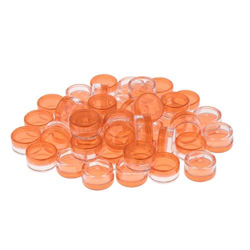 50pcs Pot Vide Récipient Cosmétique avec Couvercle pour Échantillon de Crèmes Stockage de Maquillage, Bocaux DIY Rouge à Lèvres,5 g - Bleu
