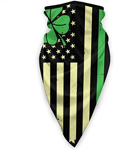 Unisex Windproof Face Mask Scarf St Patrick s Day Irish American Flag Neck Gaiter for Running product image