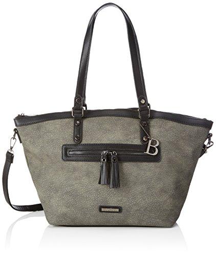 Bulaggi Pellon Shopper - Borse Tote Donna, Grau, 28x15x30 cm (B x H T)