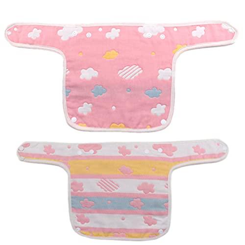 Zhou-YuXiang Baberos para bebés Toalla de Saliva Suave y Absorbente Algodón orgánico 360 Grados Giratorio babear y Alimentar