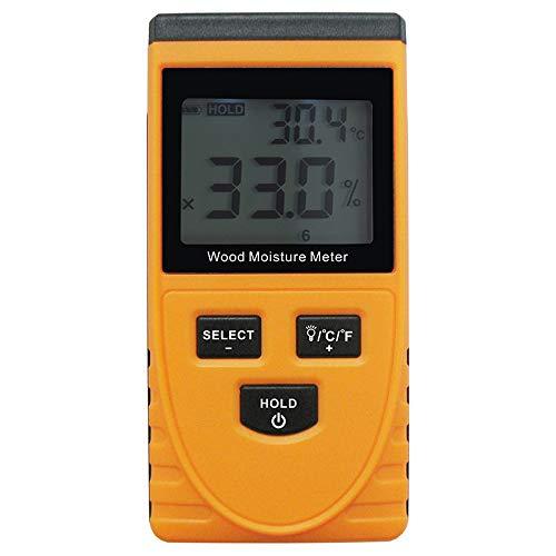 SNOWINSPRING GM630 Misuratore di Umidità Del Legno Induttivo Igrometro Strumento di Misurazione Digitale Elettrico Della Temperatura Ambiente