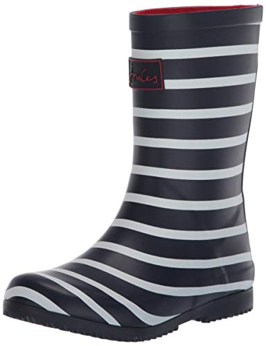 Joules Welly Print, Botas de Agua, Azul (Navy Stripe Navy Stripe), 31 EU