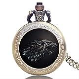 Taschenuhr Retro-Quarz-Taschen-Uhr-Halsketten-Silber-Ton-Halsketten-Anhänger Fob Uhren Geschenke