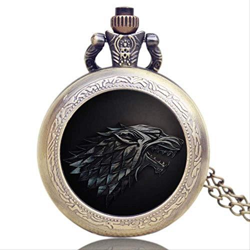 Orologio da Tasca Retro Vigilanza di Tasca della Collana di Tono d'Argento Collana FOB Guarda I Regali