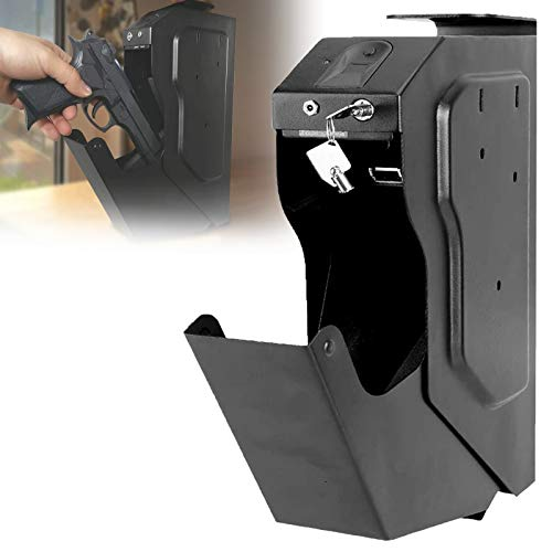 WDSZXH Portátil cajas fuertes camufladas para pequeños, arma corta, Caja Fuerte Compacta Biométrica, Apertura con Huella Dactilar para objetos de valor