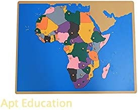Montessori Toy Puzzle Map of Africa Map (Without Control map)